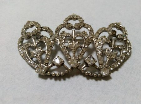 Broche Tiara plata
