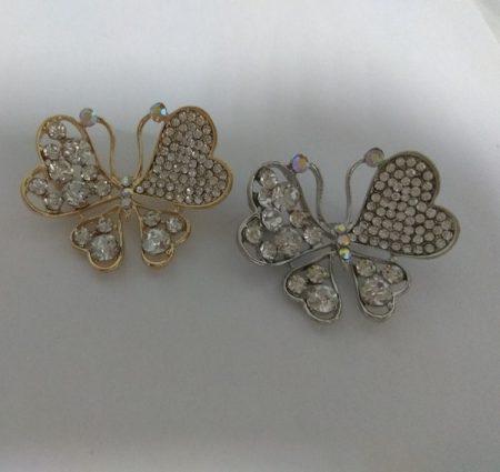 Broche mariposa cristal